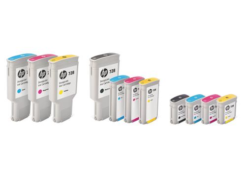 HP 728 Ink Cartridges