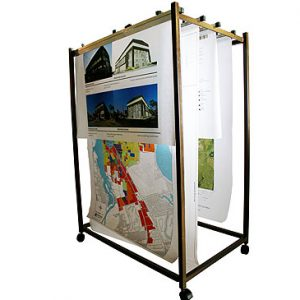 A0 Plan Filing Rack / Mobile Data Trolley