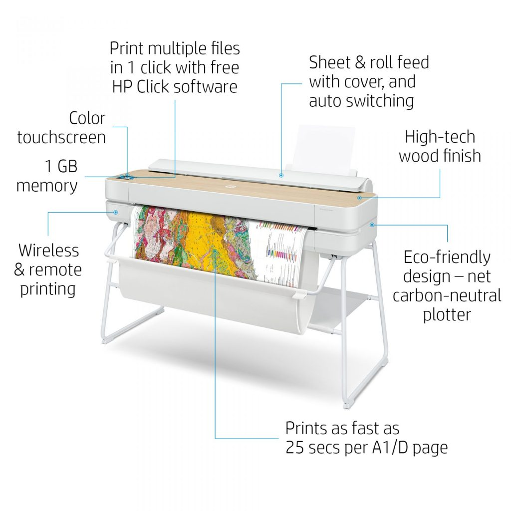 HP Designjet Studio A0_Wood Finish